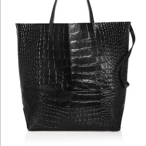 Alice.D Large Croc-embossed Leather Tote
